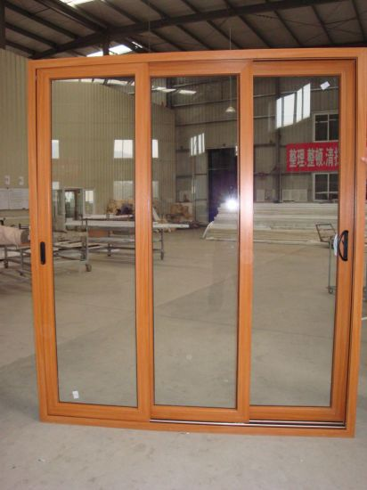 China Australian Standard Interior Double Glazing Wooden Sliding