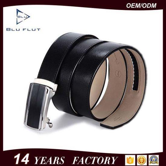 Fashion Vintage Leather Belt Split Cowhide Metal Buckle Ratchet Belts