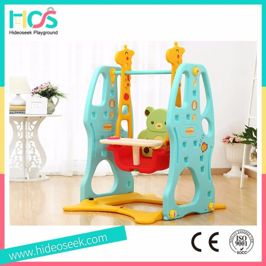 Blue Plastic Indoor Swing Set For Baby (HBS17003A)
