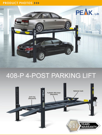 Hydraulic Used Car Lift Home Garage Parking Lift (408-P) pictures & photos