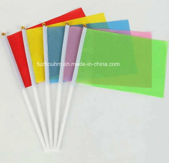 Polyester mini held stick printing flag shaking hand flag