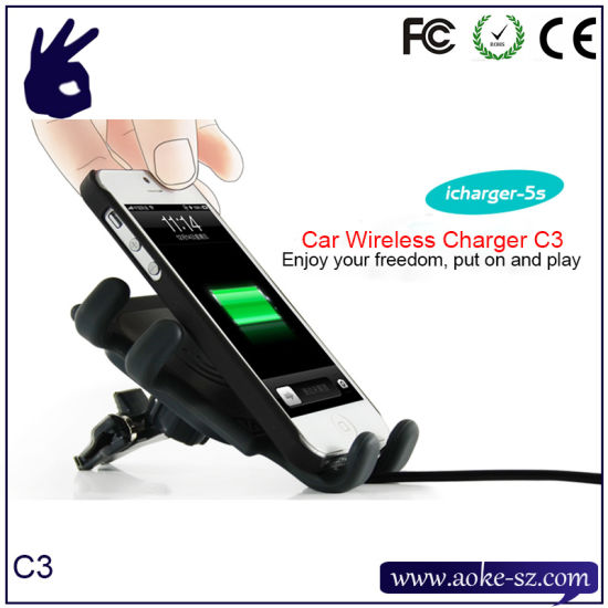 Qi Standard Wireless Car Emergency Mobile Charger pictures & photos