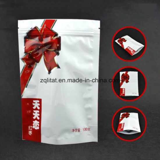 Custom Stand up Aluminum Foil Zipper Packaging Bag pictures & photos