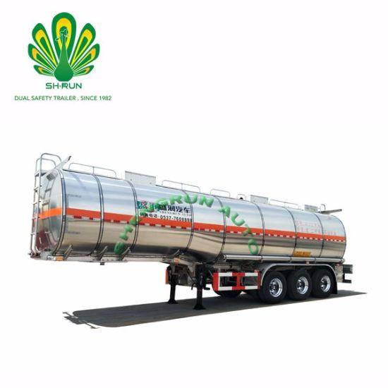 Europ Type 3-Axle Oil Tanker, Oil Fuel Tanker Trailer with Heat Preservation