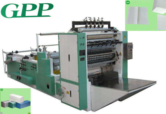 Fully Automatic Gluing V Fold Hand Towel Paper Machine pictures & photos