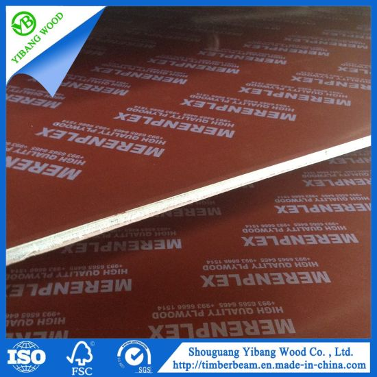 Red Film Faced Plywood 18mm for Construction