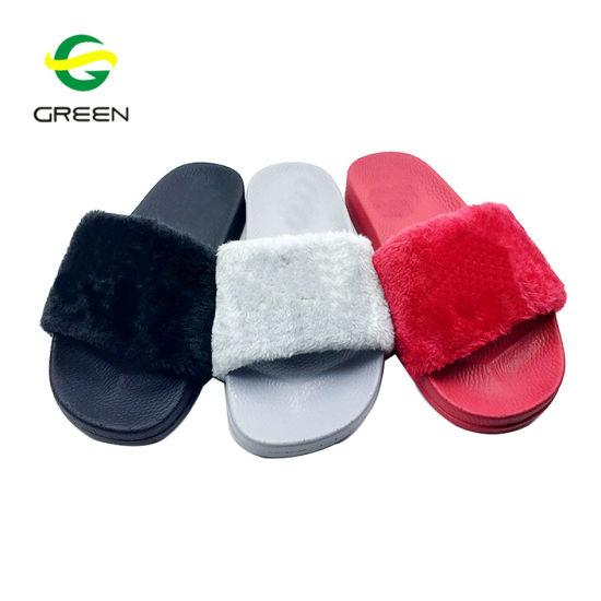 fe14cbaa22b214 New Design Ladies Sandals Custom Plush Slippers Slides Sandals pictures    photos