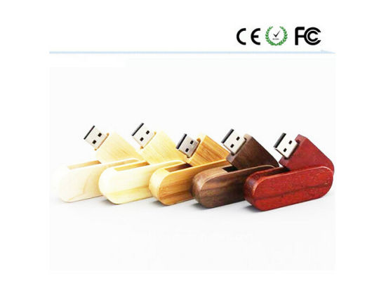 Swivel Wooden Fashion Gift USB Flash Drive