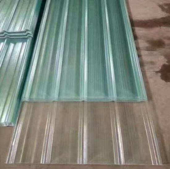 Fiberglass Panels Clear Weather Resistant FRP Transparent Corrugated  Roofing Sheets