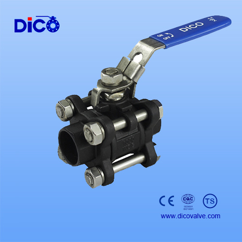 Ts Carbon Steel /Wcb Socket Weld 3PC Ball Valve pictures & photos