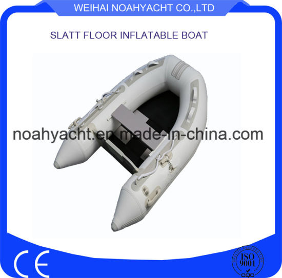 2.0m Cheap Ultra Light PVC Fishing Inflatable Rubber Boats with Slat Floor for Sale pictures & photos