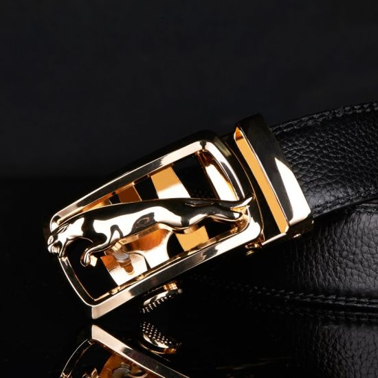 Import Genuine Leather Fashion Business Men's Belt with Automatic Buckle
