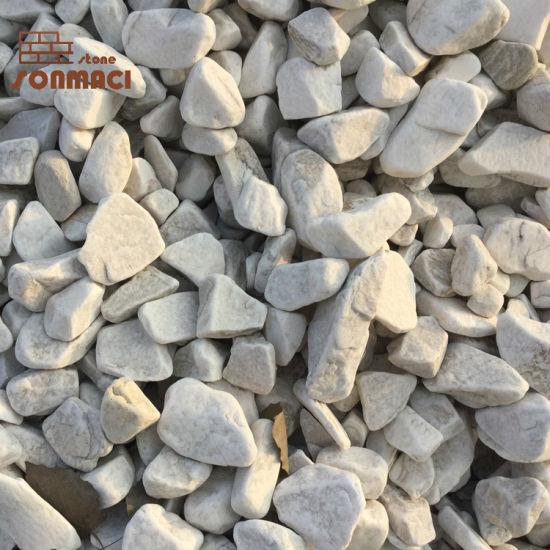 Machine Made Tumbled Snow White Pebble Stones