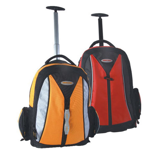 Trolley Wheeled Rolling Travel Backpack for Outdoor