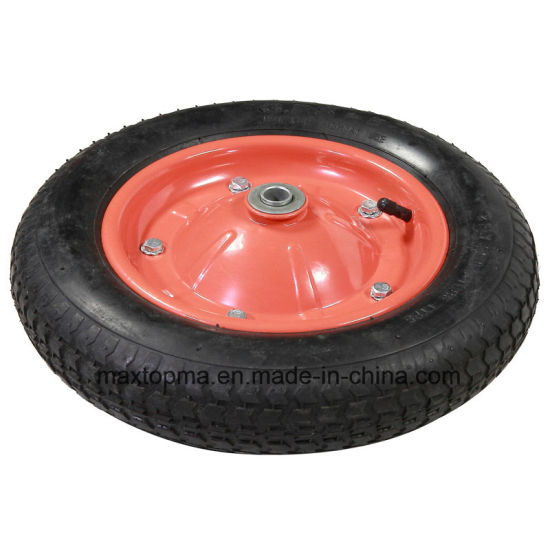 Green Wheelbarrow Tyre Without Bad Smell pictures & photos