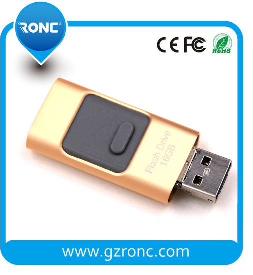 3 in 1 Micro for iPhone Interface USB Flash Drive 8GB
