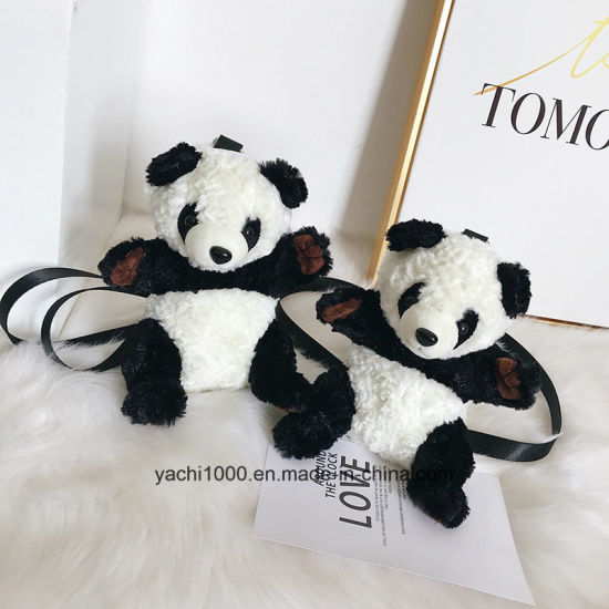 Wholesale Stuffed Toy Plush Panda Bag
