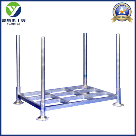 Galvanized Zinc Stackable and Collapsible Mobile Rack Steel Post Pallets pictures & photos