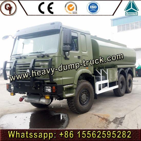 off Road 6X6 180 HP HOWO Fuel/Oil/Petrol/Diesel Tank Truck for Export