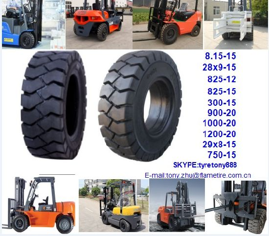 New Solid Tyre Top Quality Competitive Price 5.00-8 4.00-8 6.00-9 6.50-10 7.00-9 pictures & photos