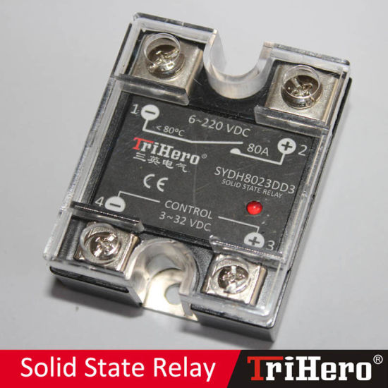 80A DC/DC Single Phase Solid State Relay SSR