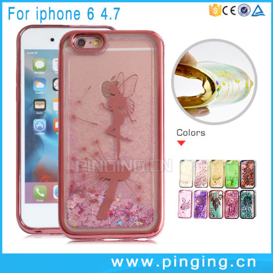 Glitter Quicksand Crystal Bling Mobile Phone Cases for iPhone 6 pictures & photos
