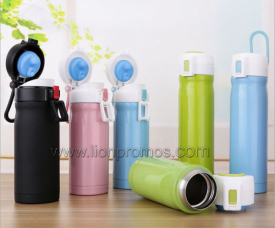 Winter Bank Car Promotional Gifts 304# Steel Thermal Flask Water Bottle pictures & photos