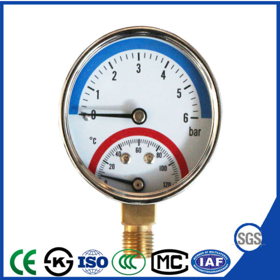 Good Selling Pressure Thermometer and Pressure Gauge Manometer with SGS