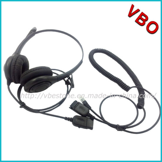 China Binaural Call Center Rj 9 Headset with Noise
