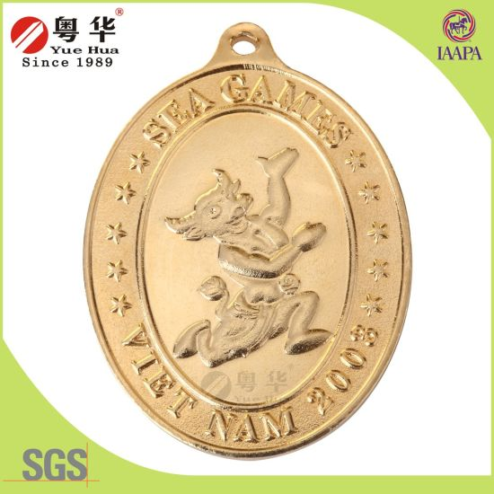 China Wholesale Metal Crafts Double Colour Plated Challenge Coin