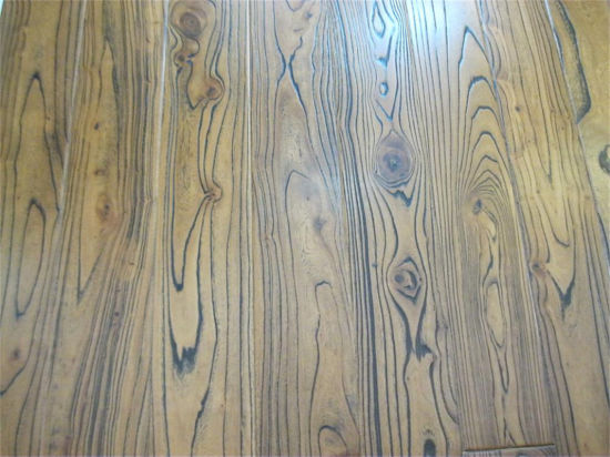 Wear Resisting Brush Effect Wooden Flooring with ISO9001 Certification pictures & photos