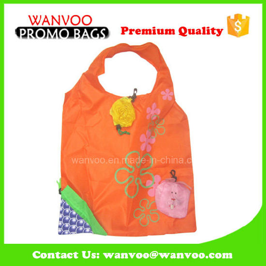 Green Tote 190t Polyester Foldable Shopping Bag pictures & photos