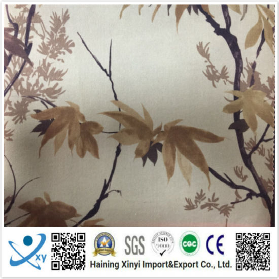 Haining Textile Fashion Design Flower Digital Printing Fabric 100%Polyester Lining pictures & photos
