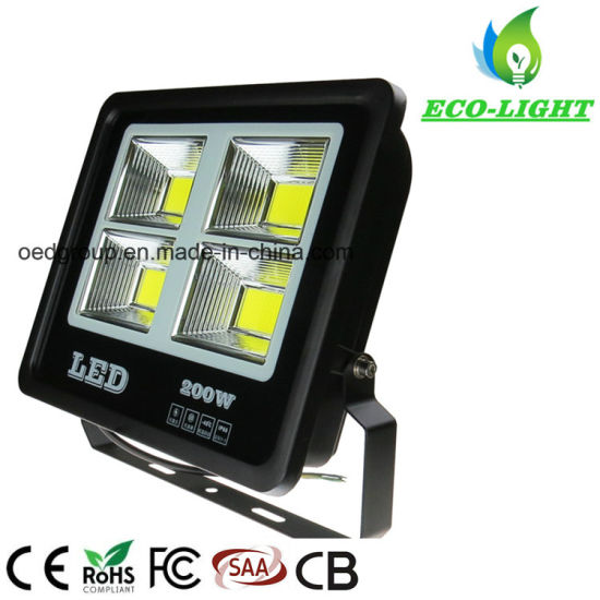 New Type 200W Outdoor Waterproof COB LED Floodlight with IP66
