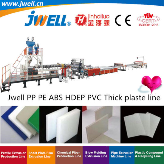 Jwell-PP|PE|POM|ABS Plastic Thick Board Recycling Agriculturalmaking Extrusion Machine for Food Anti-Erosion Industry|Home Appliance Electronics Packing Medical