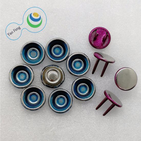 10mm Spraying Fluorescent Paint Horn Shape Brass Metal Jeans Button for Garment Accessories