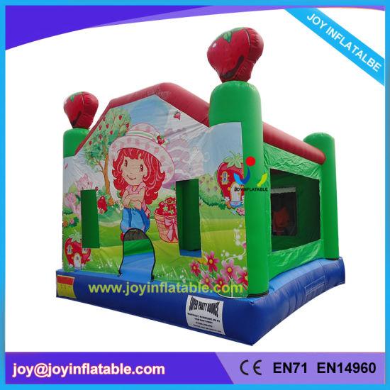 2018 Strawberry Inflatable Jumping Moonwalk Bouncer (JOY6-051)