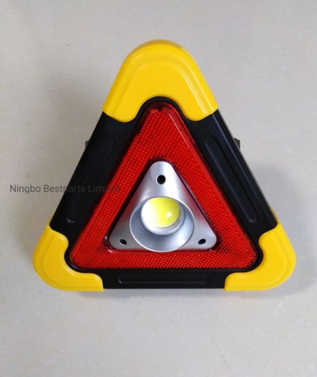 6W LED COB Work Light, Red Warning Triangle Light, Multifunctional Rechargeable Light with Solar Panel pictures & photos