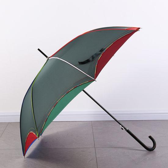 New Style Double Layer Rainbow Straight Umbrella Gray