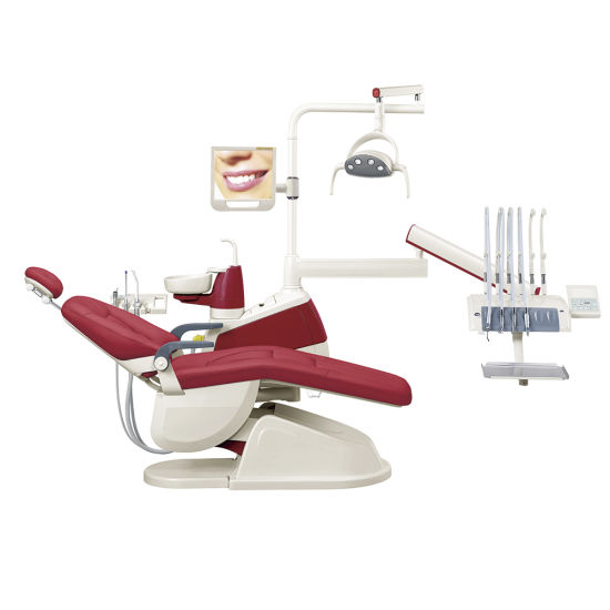 Ce & FDA Approved Gladent High Quality Colorful Dental Unit with LED Sensor Lamp (GD-S350) pictures & photos