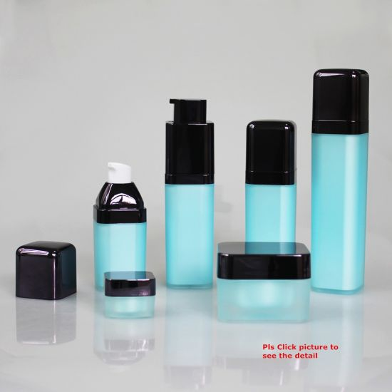 Acrylic Vacuum Material Square Twist Airless Cosmetic Bottle for Anti-Ageing Face Cream pictures & photos