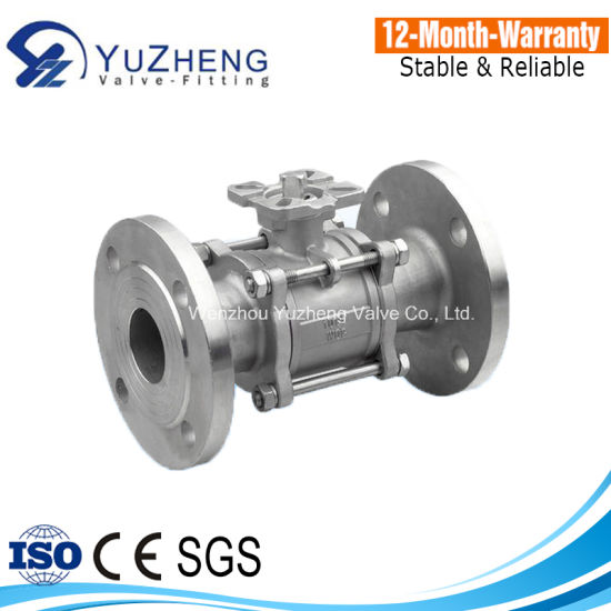 3PC Flanged End Ball Valve with Pad
