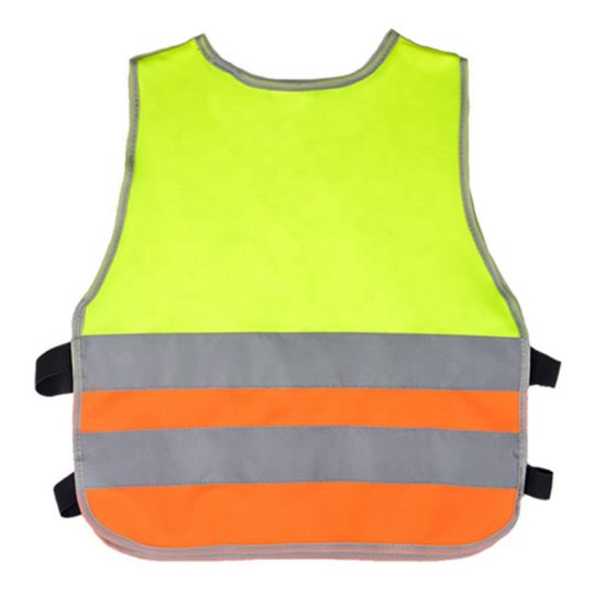 High Quality Polyester Kids Safety Vest Reflective Clothes for Child