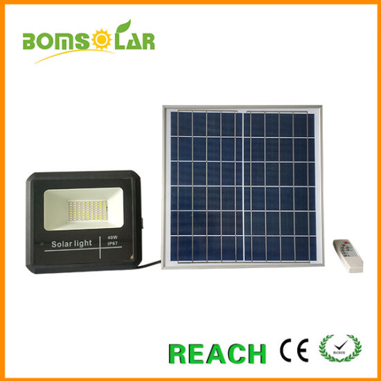 Affordable Solar Energy Flood Light 25W 40W 60W 100W with Remote Controller