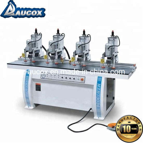 Hot Sale PVC Window Mzb73034 Four-Line Multi-Head Wood Drilling Machine Made in China for Sale