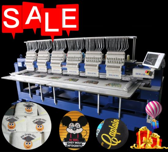 Holiauma Similar Tajima Embroidery Machine 6 Head 15 Needle Industry Multi Head Multi Function Embroidery Machine