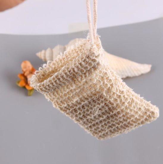 Foaming Net Easy Bubble Drawstring Bag Sisal Hemp Mesh Soap Bag