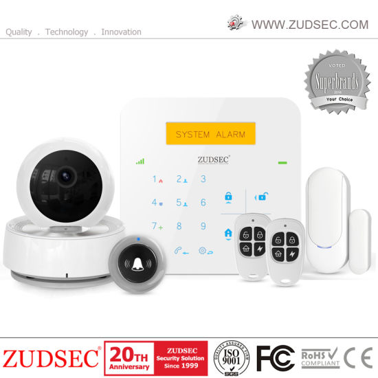 2019 New WiFi GSM Alarm System for Home Alarm with IP Camera