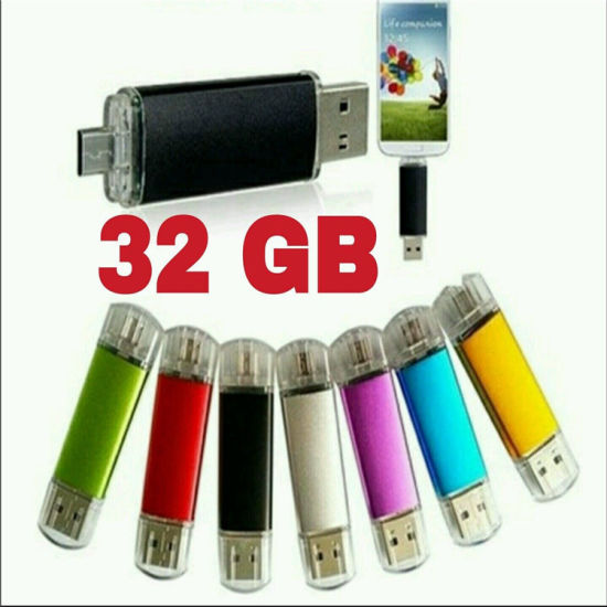 4-64GB Custom Logo Mobile Phone Dual OTG USB Flash Drive pictures & photos