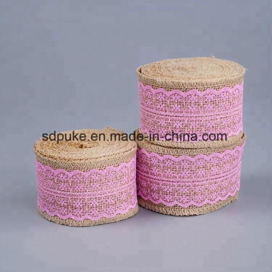 New Design Natural Jute Burlap Ribbon for Gift